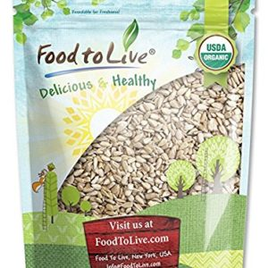Organic Sunflower Seeds by Food to Live (Raw, Kernels, No Shell, Kosher, Bulk) - 4 Pounds
