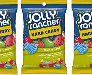 Jolly Rancher Hard Candy Fruit 'N' Sour Flavor Peg Bag, 6.5 oz, 3 pk