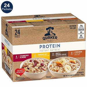 Quaker Instant Oatmeal, Protein Variety Pack, 24 Count