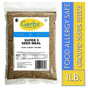 Ground Pumpkin, Sunflower, Chia, Flax, Hemp Seed Meal, 1 LB. By Gerbs - Top 14 Food Allergy Free & NON GMO - Vegan & Keto Safe - Milled Full Oil Seed Protein Powder