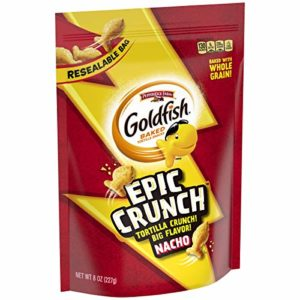 Pepperidge Farm, Goldfish, Epic Crunch, Nacho, Crackers, 8 oz. Resealable Bag,12-Count
