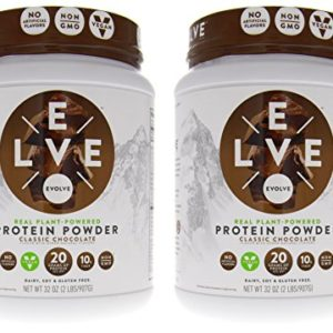 Cytosport Evolve Vegan Plant Protein Powder Classic Chocolate 2-2 lb (907 g) Containers