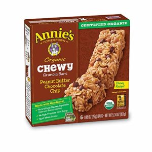 Annie's Organic Chewy Peanut Butter Chocolate Chip Granola Bars 6 ct (pack of 12)