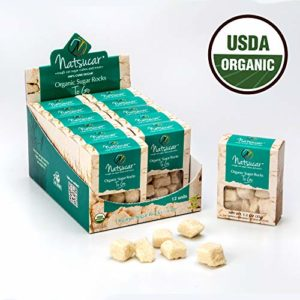 The Sugar Lab - USDA Certified Organic Sugar Cubes All Natural Kosher Vegan & Non-GMO Organic Sugar Cubes - Great Sugar for Tea and Coffee Sugar - Use Natural Sugar Cubes in Cocktails 12 Pack (1.2 oz)