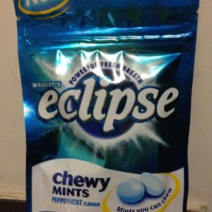 Wrigley's Eclipse Peppermint Chewy Mints Powerful Fresh Breath x 5 packs