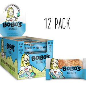 Bobo's Oat Bars Original, 12 Pack of 3 oz Bars Gluten Free Whole Grain Rolled Oat Bar - Great Tasting Vegan On-The-Go Snack, Made in the USA