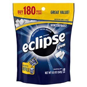 Eclipse Winterfrost Sugarfree Gum, 180 Piece Bag