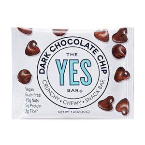 Vegan Dark Chocolate Chip - Gourmet Gluten-Free, Low Sugar, Paleo Snack Bar (Pack of 6)
