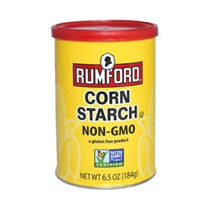 Rumford Non-GMO Corn Starch - Gluten Free, Vegan, Vegetarian, Thickener for sauce, soup, gravy in a Resealable Can - 6.5 oz