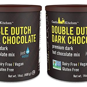 Double Dutch Dark Chocolate - Dairy-Free, Vegan Premium Hot Chocolate Mix - Just Add Water (Pack of 2)