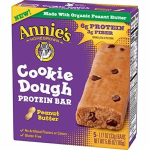 Annie's Homegrown Cookie Dough Protein Bar Peanut Butter, 5 Count