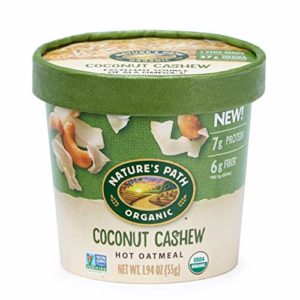 Nature's Path Coconut Cashew Oatmeal Cups, Healthy & Organic, 1.94 Ounces (Pack of 12)