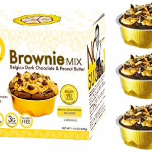 No Sugar Aloud, Brownie Mix (No sugar added, gluten free, Vegan, Keto and Diabetic friendly)
