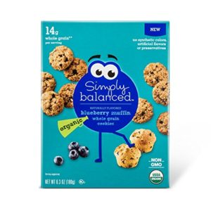 Simply Balanced Organic Whole Grain Blueberry Muffin Cookies 6.3oz, pack of 1