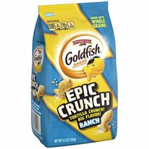 Pepperidge Farm, Goldfish, Epic Crunch, Ranch, Crackers, 5.5 oz. Bag, 20-Count