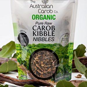 Organic Carob, Australian, Raw, Dried Carob Pod, Kibble Nibbles, Superfood, NON-GMO, World's #1 Best Tasting Carob Pod Kibble, Vegan, Organic Carob Pod, Carob, New Generation Sweet Carob, 7.05oz.