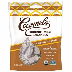 Cocomels Coconut Milk Caramels, Coconut Sugar, Organic, Dairy Free, Vegan, Gluten Free, Non-GMO, No Cane Sugar, No High Fructose Corn Syrup, Kosher, Plant Based, Individually Wrapped Candy, (1 Pack)