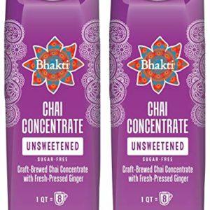 Bhakti Fair Trade Vegan Premium Chai Tea Concentrate (Unsweetened, 2-Pack)
