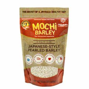 Hakubaku Mochi Barley, Premium Japanese Style Pearled Barley, 10.6 oz pouch, Cooks in 15 minutes, High fiber, Vegan