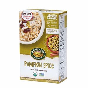 Nature's Path Pumpkin Spice Chia Instant Oatmeal, Healthy, Organic, 8 Pouches per Box, 11.3 Ounces (Pack of 6)