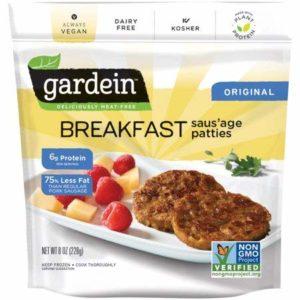 Gardein Vegan Breakfast Saus'age Patties 8 ounce (Pack of 8)