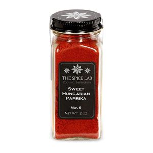 The Spice Lab Spanish Sweet Paprika Powder - High Color ASTA 180+ - 2 oz French Jar - Premium Gourmet Paprika Vegan Approved All Natural Kosher Non GMO Gluten Free Spice - Rich in Antioxidants