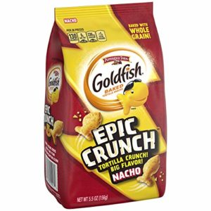 Pepperidge Farm, Goldfish, Epic Crunch, Nacho, Crackers, 5.5 oz. Bag, 20-Count