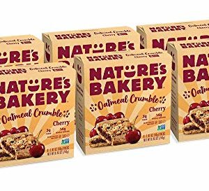 Nature's Bakery Oatmeal Crumble Bars, 6- 6 Count Boxes of 2 oz Twin Packs (36 Bars), Cherry, Vegan, Non-GMO