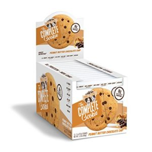 Lenny & Larry's The Complete Cookie, Peanut Butter Chocolate Chip, 2 Ounce Cookies - 12 Count, Soft Baked, Vegan and Non GMO Protein Cookies