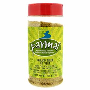 Parma! Vegan Parmesan - Garlicky Green, Dairy-Free, Soy-Free and Gluten-Free Vegan Cheese, Plant-Based Superfood, Kosher (7 ounces)