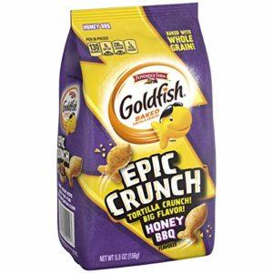 Pepperidge Farm, Goldfish, Epic Crunch, Honey BBQ, Crackers, 5.5 oz. Bag, 20-Count