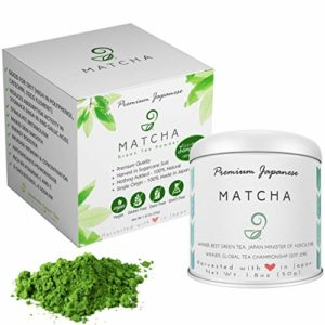 Matcha Green Tea Powder - 100% Natural, Vegan, Non-GMO, Sugar-free, and Gluten-free - Authentic Japanese Powdered Green Tea - Single Origin Tea - Premium Grade - 1.8 oz, 50 g
