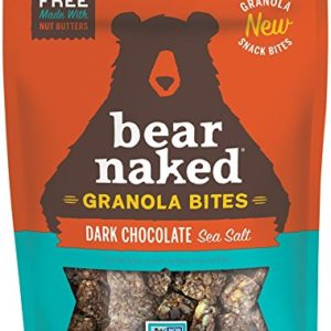 Bear Naked Dark Chocolate Sea Salt Granola Bites - Gluten Free | Non-GMO | Kosher | Vegan - 7.2 Oz