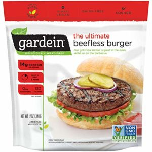 Gardein Gmo-free Vegan Ultimate Beefless Burger, 12 Ounce (Pack of 8)