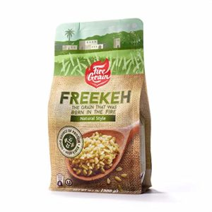 FireGrain Whole Grain Freekeh world's most nutritious super food/healthy grain, fresh from Galilee, taste the Mediterranean. Enjoy Delicious Vegan Freekeh with Every Meal (Natural, 1 Pack)