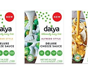 Daiya Cheeze Sauce Variety Pack  Cheddar, Alfredo & Zesty Cheddar   Vegan, Dairy Free, Gluten Free, Soy Free, Rich Cheesy Flavor (3 Pack)