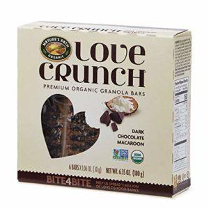 Nature's Path Love Crunch Premium Organic Granola Bars, Dark Chocolate/Macaroon, 12 pack with 6 bars each