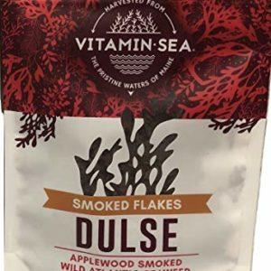 VitaminSea Organic Applewood Smoked Dulse - Flakes 2 oz / 56.5 G Maine Coast Seaweed - USDA & Vegan Certified - Kosher - Perfect for Keto or Paleo Diets - (AWSDF2)