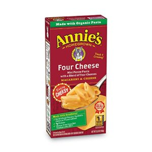 Annie's Four Cheese Penne Pasta Macaroni & Cheese, 12 Boxes, 5.5oz (Pack of 12)