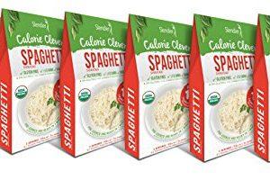 Slendier Zero Carb, Low Calorie, Gluten Free, Certified Organic, Vegan, Shirataki Spaghetti Style pasta (7oz) (Pack of 6)