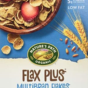 Nature's Path Flax Plus Multibran Flakes Cereal, Healthy, Organic, 13.25 Ounce Box (Pack of 6)