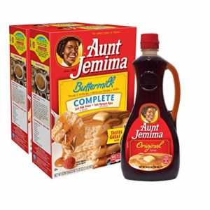 Aunt Jemima Original Syrup & Complete Buttermilk Pancake Mix Variety Pack, 2 (2lb) Boxes of Pancake Mix & 1 (24oz) Bottle of Original Syrup, 1 Set