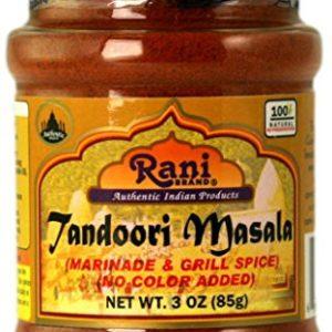 Rani Tandoori Masala (Natural, No Colors Added) Indian 11-Spice Blend 3oz (85g) ~ Salt Free | Vegan | Gluten Free Ingredients | NON-GMO