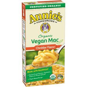 Annie's Organic Cheddar Vegan Mac Box, 6 Ounce (Pack of 12)