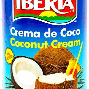 Iberia Coconut Cream,13.2 fl. oz., Ideal For Use in Drinks & Desserts, Non-Dairy Alternative, Premium Coconut Cream for Vegan and Dairy Free Cakes.