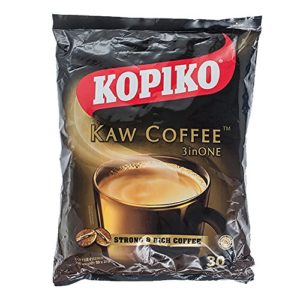 Kopiko Kaw Coffee 3 In 1 / Heavenly Coffee Aroma, Strong Rich Flavour, Delectable Mouthfeel, Lingering Aftertaste / 30s x 20g