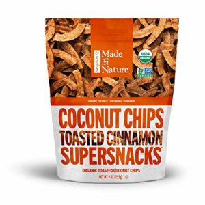 Made in Nature Vietnamese Cinnamon Toasted Coconut Chips, 9 oz - Organic Coconut Dried Fruit Snack