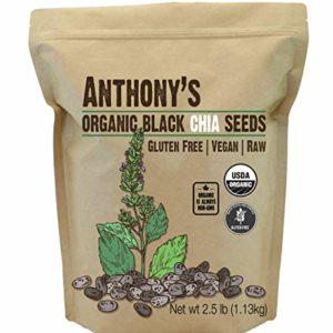 Anthony's Organic Chia Seed, 2.5lbs, Gluten Free, Vegan, Raw, Keto Friendly