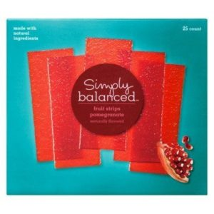 Simply Balanced Pomegranate Strips (25 Count) NT WT 12.5 OZ