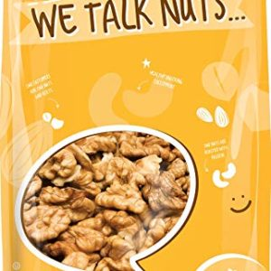 WALNUTS - SHELLED CALIFORNIA - Dry Roasted Salted With HIMALAYAN SALT - Great Source of Omega 3 - Super Crunchy - (1 LB) - Farm Fresh Nuts Brand.